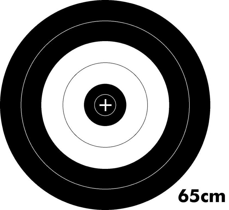 Archery Target Black And White